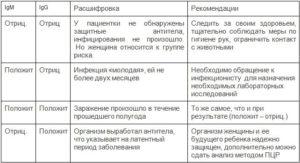 Расшифровка анализа на токсоплазмоз