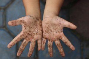 Грязные руки - причина лямблиоза